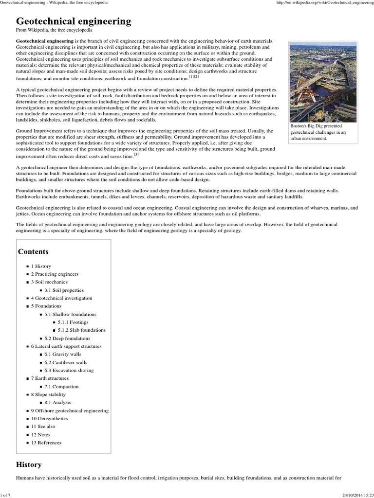 Geotechnical Engineering - Wikipedia, The Free Encyclopedia   Geotechnical  Engineering   Deep Foundation