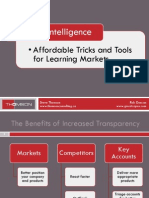 Market Intelligence - Affordable Tricks and Tools for Learning Markets