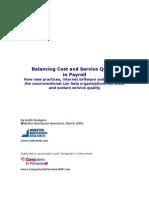 Balancing Cost Quality Payroll