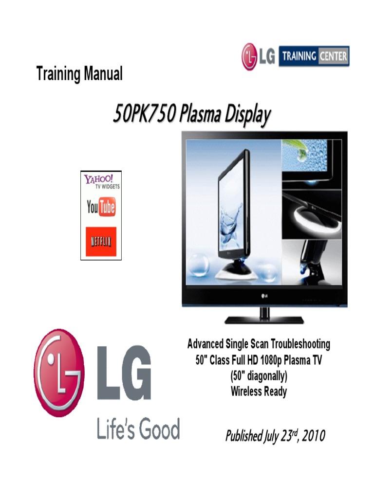 Manual de serviço tv lg 42pn4500 sa chassis pb31a.
