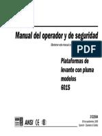 Manual del Operador y de Seguridad de la plataforma ManLift JLG 601S (español).pdf