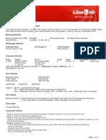 Lion Air ETicket (XCIUBW) - Nurhayati