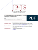 Evaluation of Oxidation and Fatigue Damage of Retrieved Crossfire Polyethylene Acetabular Cups