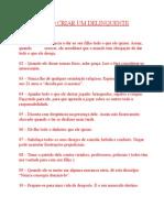 COMO CRIAR UM DELINQUENTE.doc
