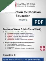 educ310- intro to christian education 8