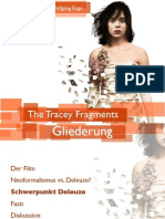 """Das Zeitbild in """"The Tracey Fragments"""""""