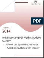 India Recycling PET Market Future Outlook and Projection to 2019