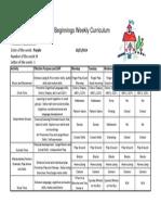 Weekly Curriculum October 27-31
