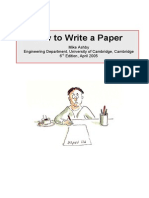 How to Write a Paper_MAshby