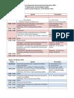 Susunan Acara Simposium IPE Makassar 20142014