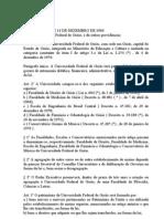 UFG CRIAÇÃO LEI N 3.834 C, cria a UFG e UFSM[1]