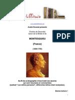 André Durand Présente Montesquieu (Comptoir Littéraire)