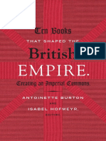 Ten Books That Shaped the British Empire edited by Burton and Hofmeyr
