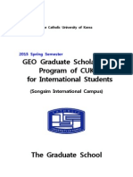 [2015 Spring] GEO Graduate Scholarship Program of CUK for International Students