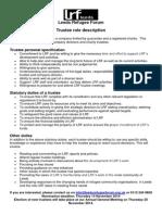 LRF Trustee Job Description Oct 2014