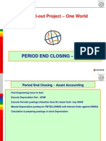 Period End Closing - Asset