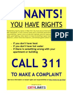 NYC Tenants Rights Poster