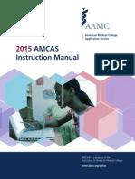 2015 AMCAS Instruction Manual
