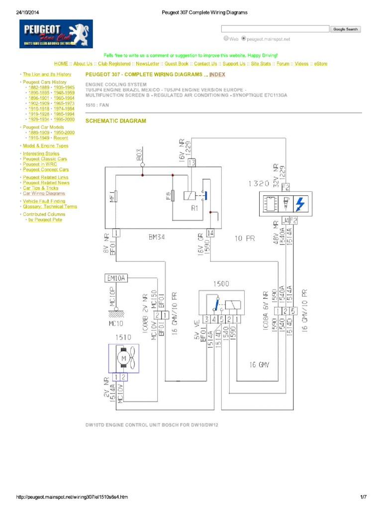 Peugeot 407 Wiring Diagram Wiring Diagrams Peugeot Partner Peugeot 307