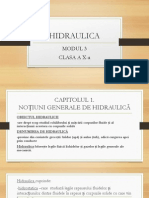 HIDRAULICA clasa a X-a profesionala