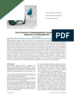 Iron Overload in Myelodysplastic Syndromes