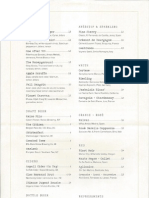 Vedge Drink Menu