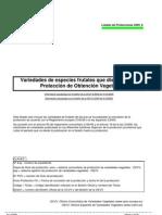 Listado de protecciones TOV_2009_8
