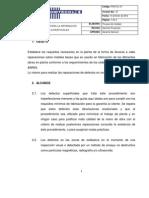 PROCEDIMIENTO DE PARA LA REPARACION DEFECTOS SUPERFICIALES.pdf