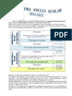Structura Anului Scolar 20142015 a Fonoca