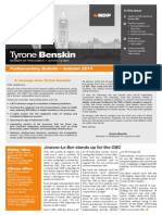 Autumn 2014 parliamentary bulletin - English version - Tyrone Benskin