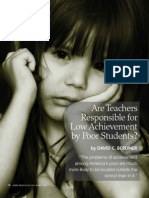 Are Teachers Responsible for Low Performance