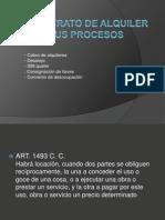 Civil - El contrato de alquiler y sus procesos.pps