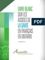 Livre blanc sur les assises de la santé en français en Ontario