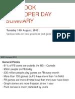 FB Developer Day Summary