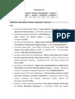 Publication List of Dr Ajay Rana