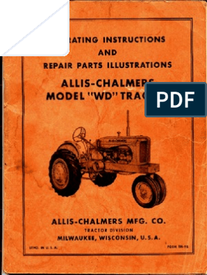 Allis Chalmers WD Factory Service Manual | Clutch | Carburetor on
