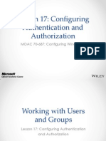 MOAC 70-687 L17 Authentication and Authorization
