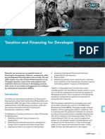 Taxation and Financing for Development