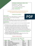 Tabela de Venda de Livros de a Brasil