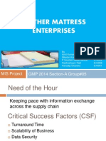 Feather Mattress Enterprises SecA Grp05