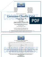 Special Reception for Charlie Crist