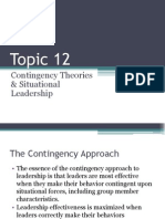 Topic 12.Contingency Theories & Situational Leadership.ppt