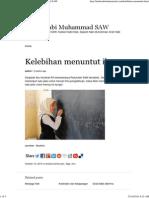 Kelebihan Menuntut Ilmu _ Hadis Nabi Muhammad SAW