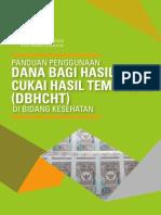 Panduan Penggunaan Dana Bagi Hasil Cukai Hasil Tembakau (DBHCHT) di bidang Kesehatan