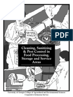 Cleaning, Sanitizing, And Pest Control in Food Processing, Storage, And Service Areas