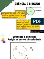 CIRCUNFERÊNCIA E CÍRCULO 1 AUTOR DESCONHECIDO.ppt