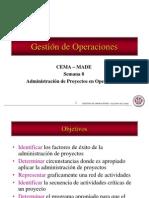 Gestion Operaciones. Adminis. Administracion de Proyectos