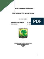 MAKALAH ETIKA BISNIS PPAK PERTEMUAN 6.doc