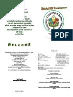 District BSP Camporal Program 2012
