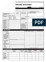 Personal Data Sheet a(Revised 2005) Rod